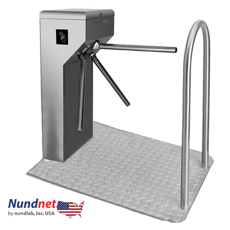 Portable Waist Height Tripod Turnstile Nundnet NU 1346PT, USA, UK, EU