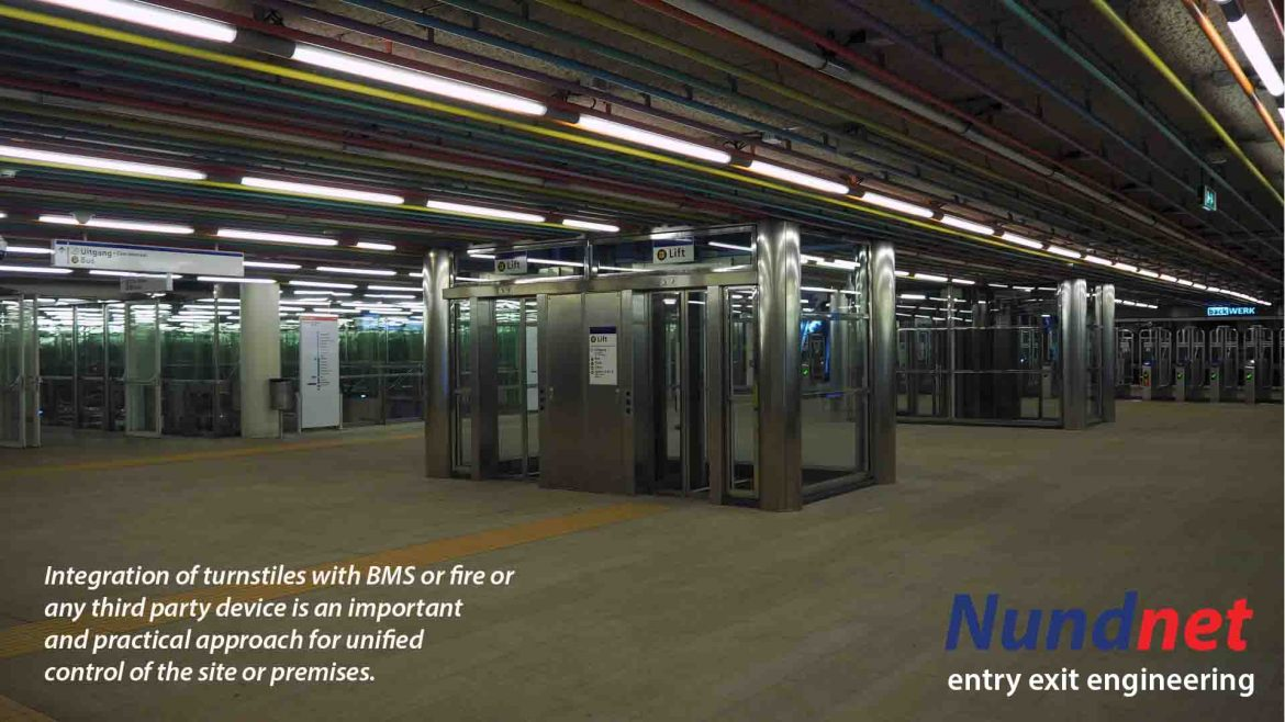 Integration of turnstile with BMS