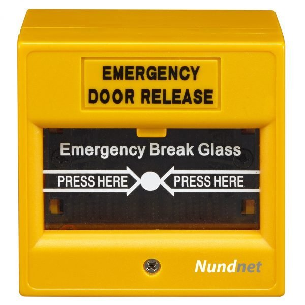 Emergency Break Glass for fire and access control Orange color Nundnet USA