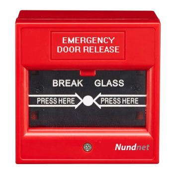 Emergency Break Glass for fire and access control Red color Nundnet USA