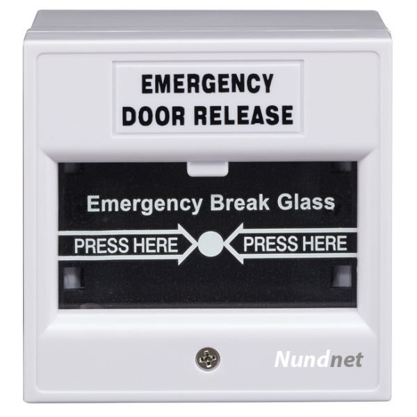 Emergency Break Glass for fire and access control White color Nundnet USA