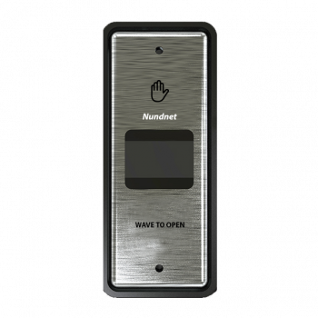 Slim rectangle Touch free button