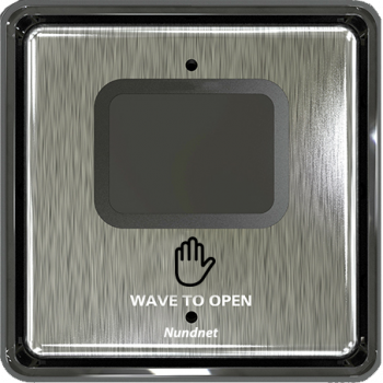 Wave to open touch free switch square