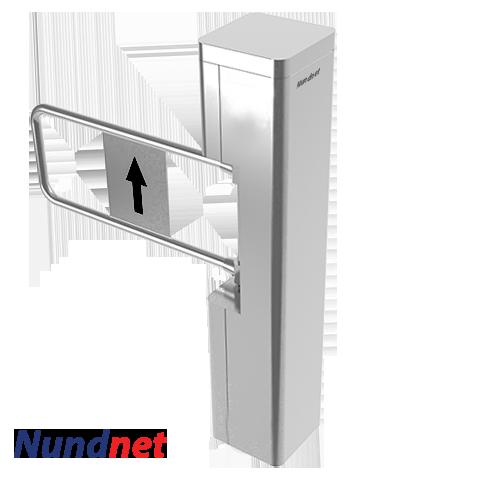 Motorized entry exit swing gate turnstile Nundnet NU 9303BG
