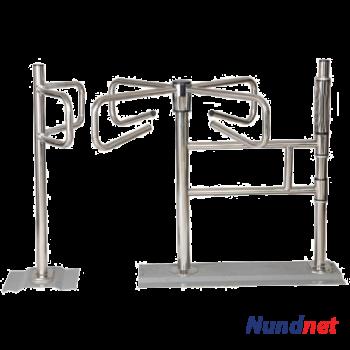 Curved Mechanical turnstile for supermarket Nundnet NU 9705KS